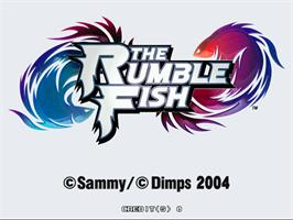 Title screen of The Rumble Fish on the Arcade.