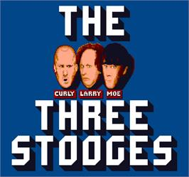 Title screen of The Three Stooges In Brides Is Brides on the Arcade.