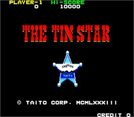 Title screen of The Tin Star on the Arcade.