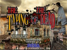 Title screen of The Typing of the Dead on the Arcade.