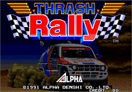 Title screen of Thrash Rally on the Arcade.