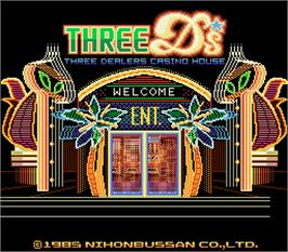 Title screen of Three Ds - Three Dealers Casino House on the Arcade.