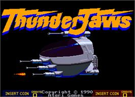 Title screen of ThunderJaws on the Arcade.