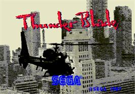 Title screen of Thunder Blade on the Arcade.