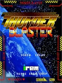 Title screen of Thunder Blaster on the Arcade.