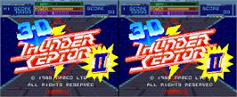Title screen of Thunder Ceptor II on the Arcade.