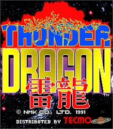 Title screen of Thunder Dragon on the Arcade.