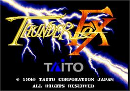 Title screen of Thunder Fox on the Arcade.