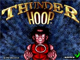 Title screen of Thunder Hoop on the Arcade.