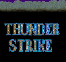 Title screen of Thunder Strike on the Arcade.