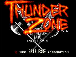 Title screen of Thunder Zone on the Arcade.