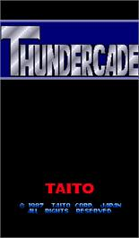 Title screen of Thundercade / Twin Formation on the Arcade.