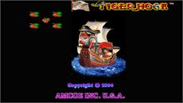 Title screen of Tiger Hook on the Arcade.