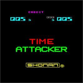Title screen of Time Attacker on the Arcade.