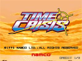 Title screen of Time Crisis on the Arcade.