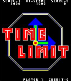 Title screen of Time Limit on the Arcade.