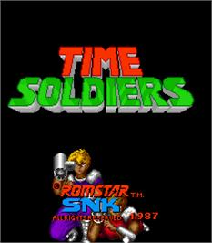 Title screen of Time Soldiers on the Arcade.