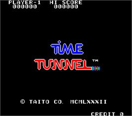 Title screen of Time Tunnel on the Arcade.