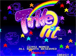 Title screen of Tinkle Pit on the Arcade.