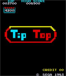 Title screen of Tip Top on the Arcade.