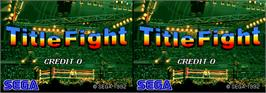 Title screen of Title Fight on the Arcade.