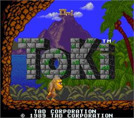 Title screen of Toki on the Arcade.
