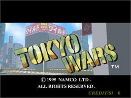 Title screen of Tokyo Wars on the Arcade.