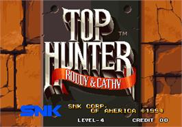 Title screen of Top Hunter - Roddy & Cathy on the Arcade.