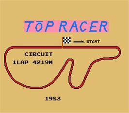 Title screen of Top Racer on the Arcade.