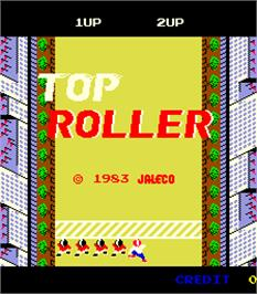 Title screen of Top Roller on the Arcade.