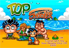 Title screen of Top Shooter on the Arcade.