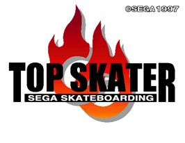 Title screen of Top Skater on the Arcade.
