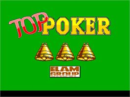 Title screen of Toppoker on the Arcade.