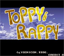 Title screen of Toppy & Rappy on the Arcade.