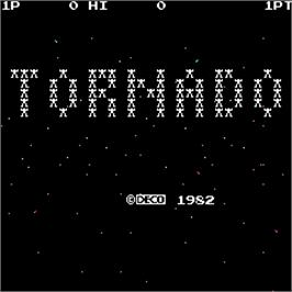 Title screen of Tornado on the Arcade.