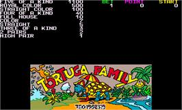Title screen of Tortuga Family on the Arcade.