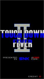 Title screen of TouchDown Fever 2 on the Arcade.