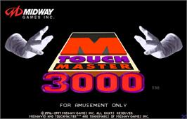Title screen of Touchmaster 3000 on the Arcade.