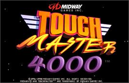 Title screen of Touchmaster 4000 on the Arcade.