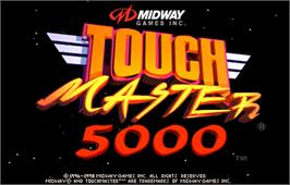 Title screen of Touchmaster 5000 on the Arcade.