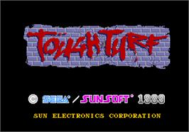 Title screen of Tough Turf on the Arcade.