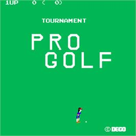 Title screen of Tournament Pro Golf on the Arcade.