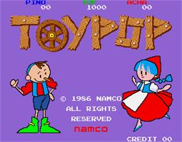 Title screen of Toypop on the Arcade.