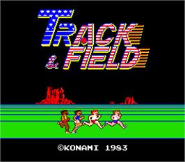 Title screen of Track & Field on the Arcade.