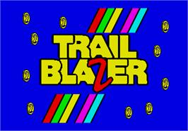 Title screen of Trail Blazer on the Arcade.