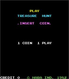 Title screen of Treasure Hunt on the Arcade.