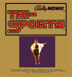 Title screen of Tri-Sports on the Arcade.
