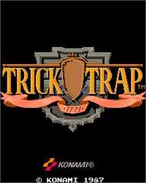 Title screen of Trick Trap on the Arcade.