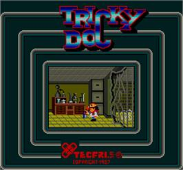 Title screen of Tricky Doc on the Arcade.