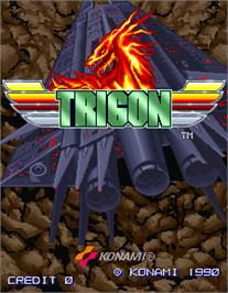 Title screen of Trigon on the Arcade.